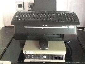 Dell Desk Top Computer & Printer