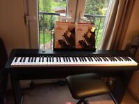Electric Keyboard - COMPLETE with Stool, Stand and Adult All-in-One-Course books Level 1 and 2