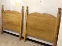 1 Pair 3ft Solid Pine Headboards
