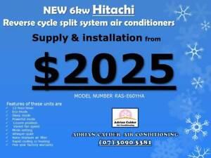 Supplied & installed 6kw Hitachi split system air conditioner