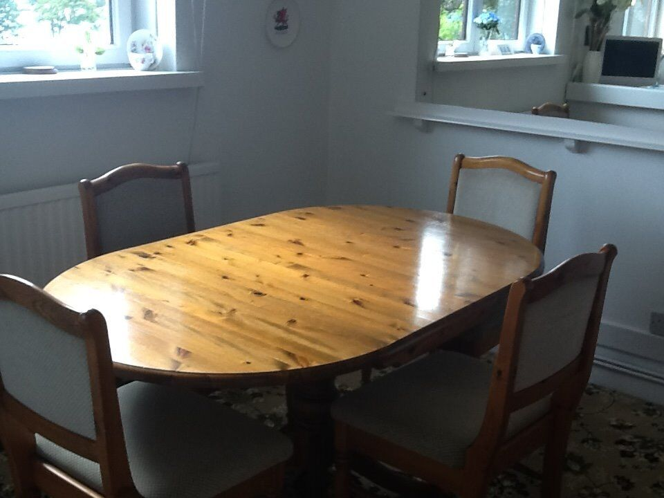 Terrific Ducal Dining Table And Chairs Super Pine Wood From Famous Maker Priced For Quick Sale In West Cross Swansea Gumtree Home Interior And Landscaping Palasignezvosmurscom
