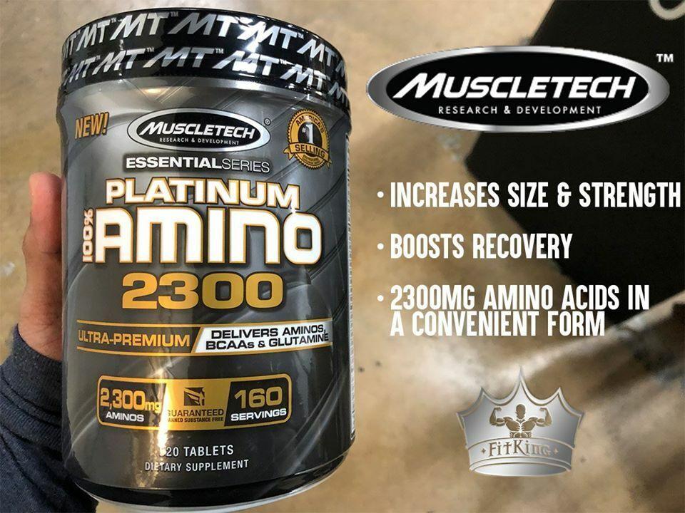 MuscleTech Platinum 100% AMINO 2300 Aminos BCAAs Glutamine 3