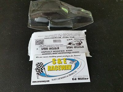 1/32 CLEAR SLOT CAR BODY  ASPHALT MODIFIED   #3085