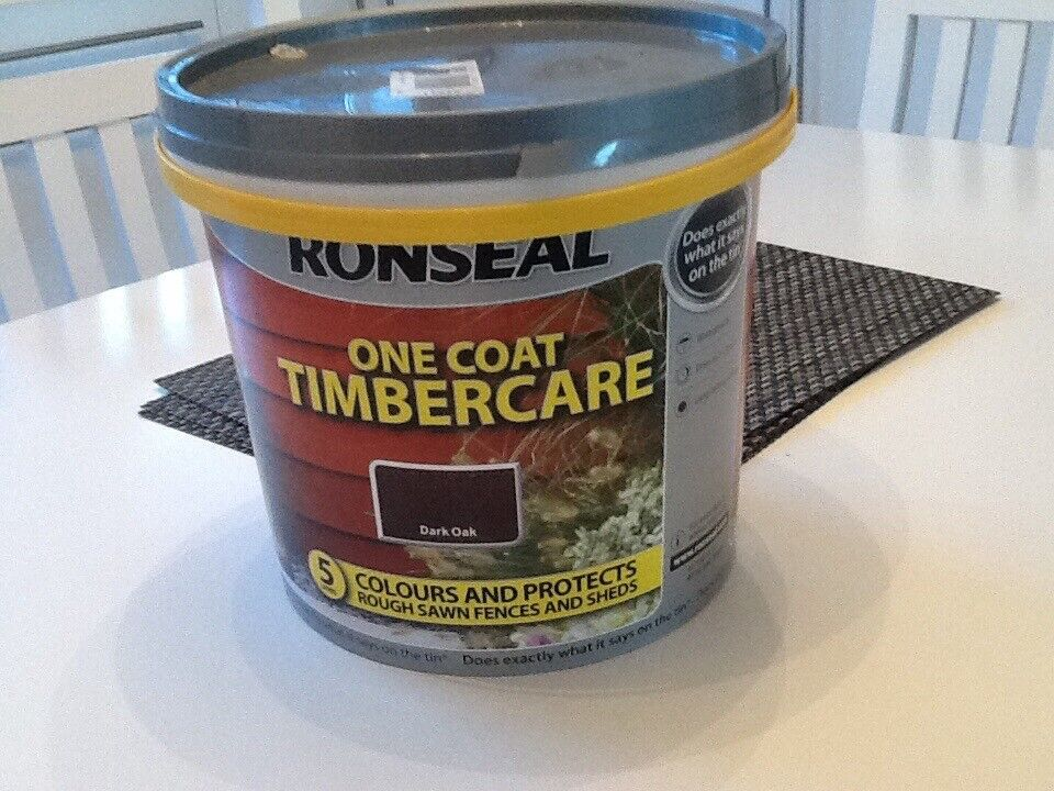 Ronseal Dark Brown Fence Paint