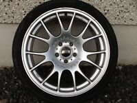 18INCH 5/112 BBS MOTORSPORT ALLOY WHEELS 9INCH WIDE FIT VW AUDI SEAT ETC WITH TYRES