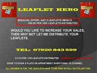 Are you looking for a leaflet distributor