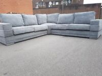 Fantastic FEW DAYS OLD grey fabric very large corner sofa ,good quality ,as new ,can deliver