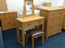 £120 - Kent Dressing table, Stool and Mirror - new and unused - delivery available