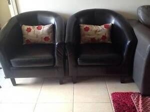 2 Black Armchairs Mount Druitt Blacktown Area Preview