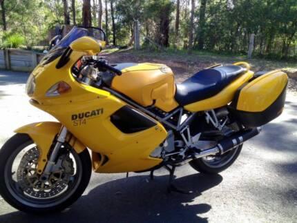 Yellow 2000 Ducati ST4 Motor Bike