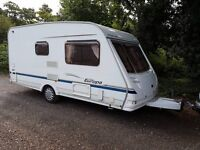 Sterling Europa 460 2 berth caravan 2005 Full Awning, VGC, Bargain !