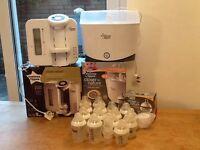 Tommee Tippee Perfect Prep Machine, Steriliser, Bottles x 15 Fab Bundle!