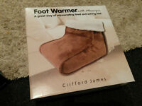 FOOT WARMER WITH MASSAGER, BRAND NEW IN BOX, £25, PEACEHAVEN