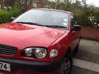 Well maintained and serviced 2001 Toyota Carolla. Mot'd until Aug 29 2017