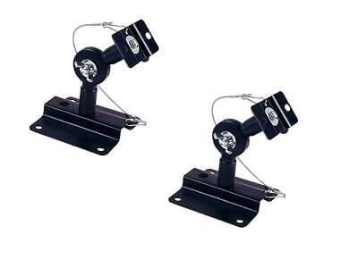 Adjustable 33 lb. Capacity Speaker Wall Mount Brackets (Pair) Black -No Hardware Speaker Mount Hardware
