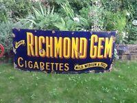Wanted old metal advertising sign garage shop antique vintage enamel