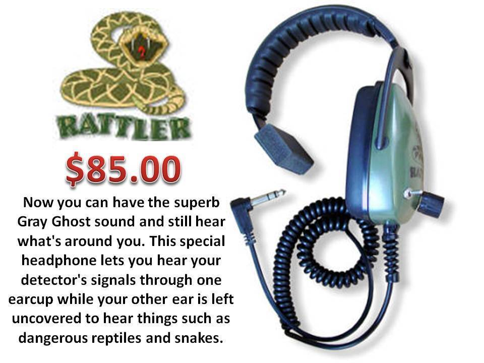 "DetectorPro ""Rattler"" Headphones ""Great Sound Quality"" SHIPS FREE"