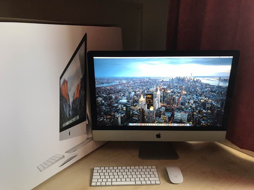 """iMac 27"""" 5K retina (late 20153.2GHz Intel i5/ 16gb/ 1tb Fusion drivein Lancaster, LancashireGumtree - Imac 27"""" late 2015 Retina 5K 3.2 GHz Intel Core i5 16 GB 1867 MHz DDR3 1tb Fusion drive AMD Radeon R9 M390 2048 MB Bought in October last year It is a perfect condition with the original package"""