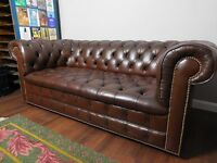 Vintage 60's Brown Chesterfield Sofa