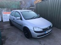 Corsa 2000 plate spares or repairs