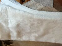 Lace ivory tablecloth 52x70