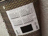 Black IKEA HAMPEN rug