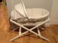 John Lewis star Moses basket. As new cost £100