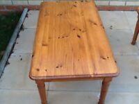 Pine coffee tables x 2