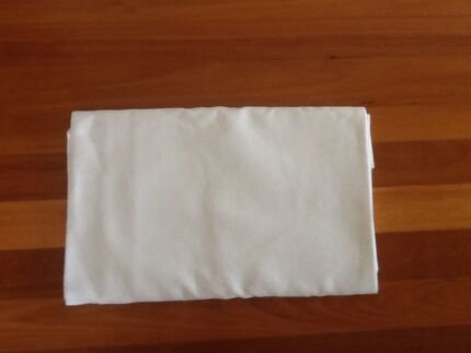 White Damask Linen Square Tablecloth Taren Point Sutherland Area Preview