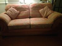 Living room sofa, two matching armchairs, comfortable, great condition