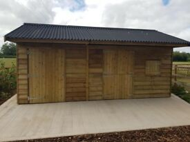 24ft x 12ft , double field shelter , stables , tack room NO VAT !!