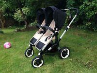Bugaboo donkey full twin system double pram pushchair stroller car seats maxi cosi isofix