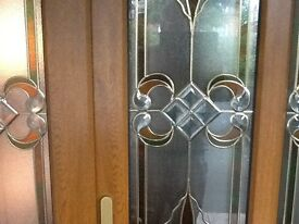 Stained leaded double glazed glass panels