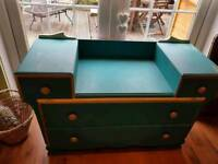 Vintage Retro Dressing Table with Mirror 5 Drawers Console Side Board Dresser