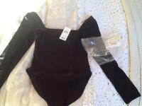 New size 10 unworn black body top