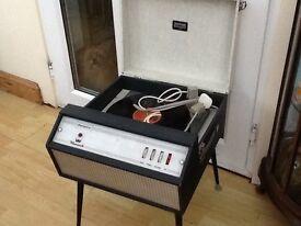 Vintage retro Dansette Monarch Record Player, working order, 60s, Northern soul, vespa, lambretta
