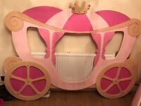 Custom made princess carraige bed