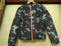 Primark Cosy Hooded Camouflage Puffa Jacket - Size 16
