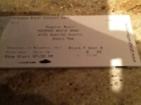 1 ticket for Average White band .
