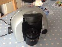 Tassimo coffee maker, uses discs to make coffee, hot chocolate etc