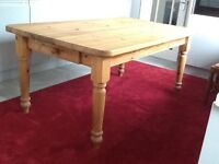"183cm x 104cm x 79cm high. (6' long x 3' 5"" wide x 2'7"" high) Dining/kitchen table"