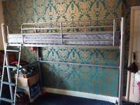 single cabin bed tall metal