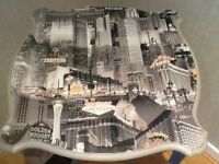 Side table with Las Vegas on top