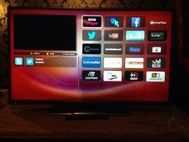 42 inch hitatchi smart led tv