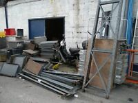3 bays heavy duty pallet racking