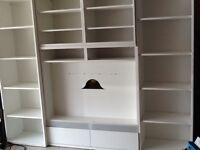 Large white Ikea Wall Unit in excellent condition
