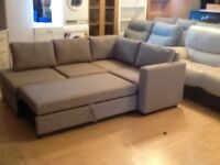 Brand new corner suite double sofa bed