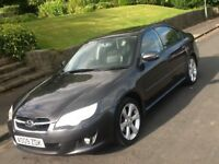 2009 SUBARU LEGACY REN 2.0 5 DOOR SALOON WITH LEATHER AND SAT NAV AND FULL HISTORY