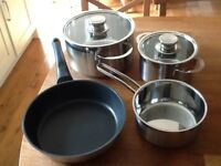 Saucepan set for induction hobs - brand new and boxed, lovely quality