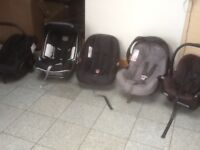 £10 each-group 0+ car seats with carry handles-for newborn upto 13kg-several available-all washed